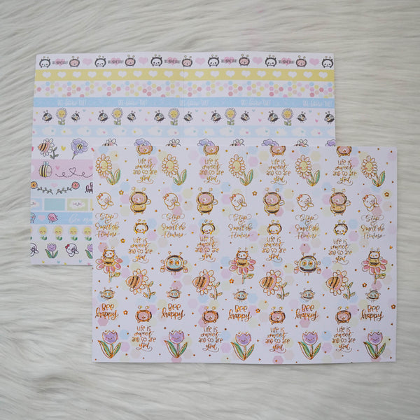 Pattern Papers : Holo Gold Foiled // Bee-YOU-tiful  (Set of 4)