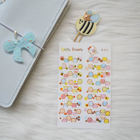 Planner Stickers : Bee-YOU-tiful // Foiled Deco Header (B258)