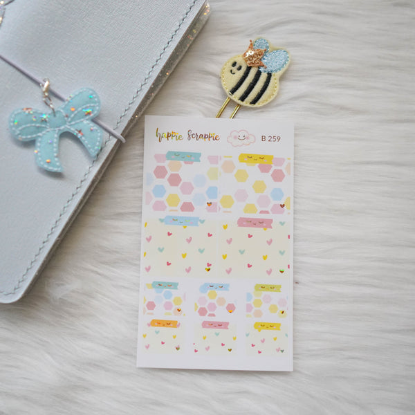 Planner Stickers : Bee-YOU-tiful // Foiled Stickie Notes (B259)