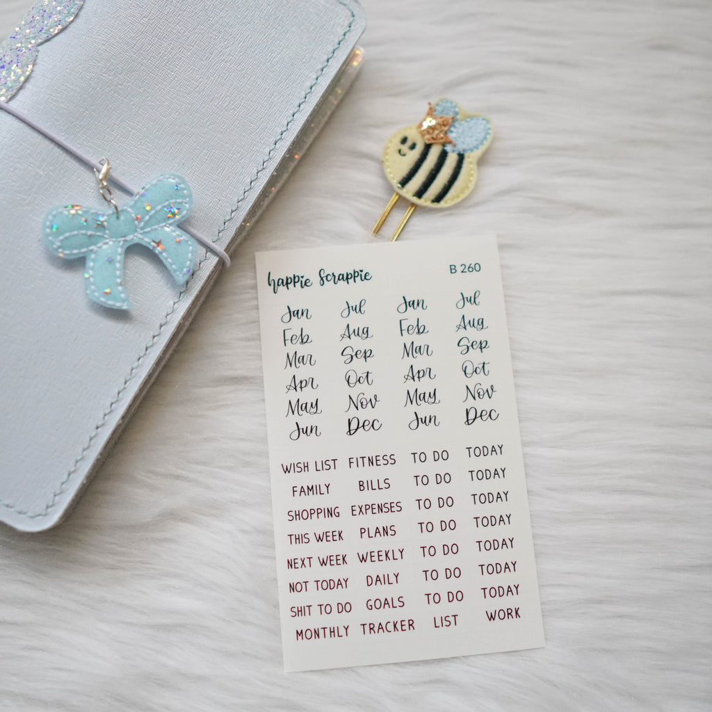Planner Stickers : Bee-YOU-tiful // Clear Sticker With Handlettering (B260) // Jeshy Park Collab