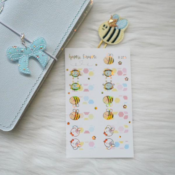 Planner Stickers : Bee-YOU-tiful // Foiled Tabs (B256)