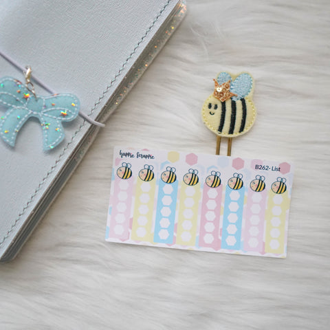 Planner Stickers : Bee-YOU-tiful- Check List (B262)
