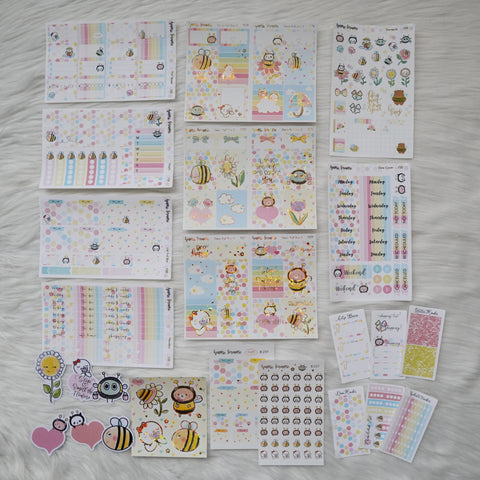Sticker Kit - Bee-YOU-tiful (Set of 9 Sheets) - Foiled Stickers
