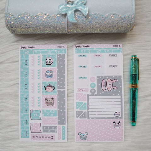 Hobonichi Weeks Sticker Kit - Animal Macarons // H003