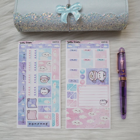 Hobonichi Weeks Sticker Kit - Pink Sleepy Cloud // H005