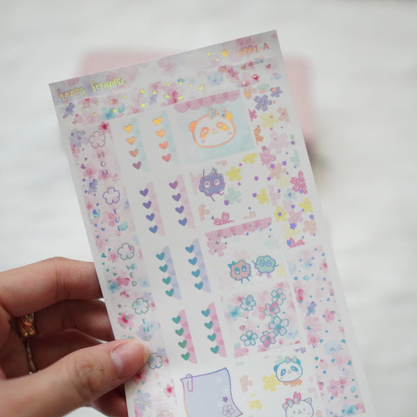 Hobonichi Weeks Sticker Kit - Blossom // H001 - Foiled Stickers