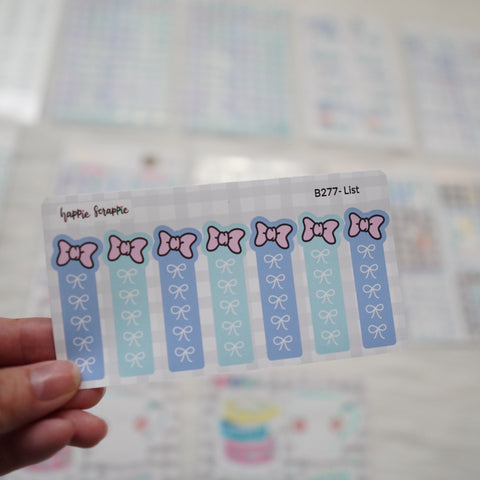 Planner Stickers : My Favorite Things - Check List (B277)