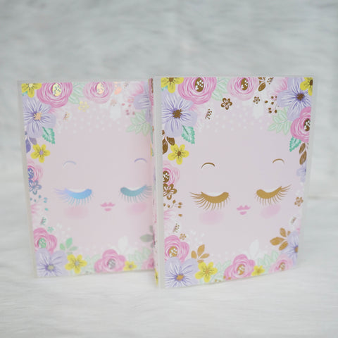 Sticker Album : Jumbo Sized Sticker Albums // J012 - Hello Petite Paper Collab (Eyelash Girl)