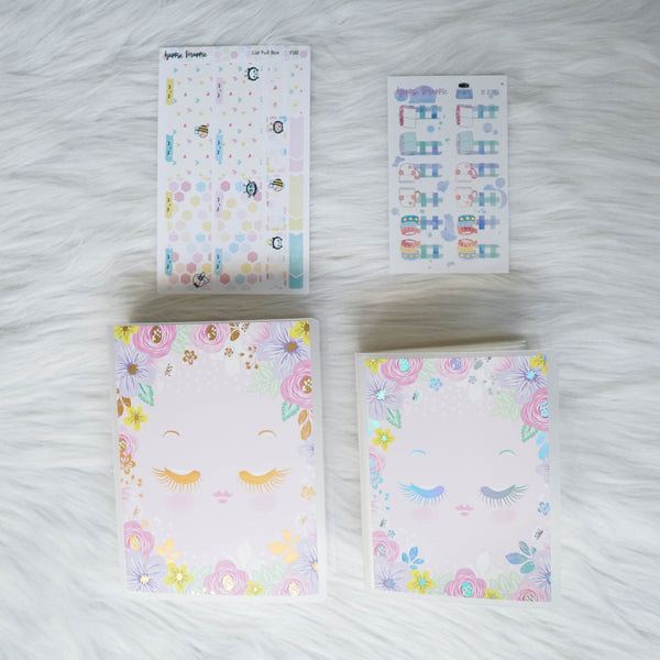 Sticker Album : Regular Sticker Albums // A079 - Hello Petite Paper Collab (Eyelash Girl)