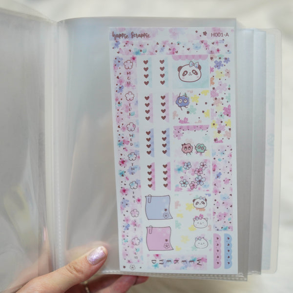 Sticker Album : Jumbo Sized Sticker Albums // J010 - Jeshy Park Collab (Cherry Blossom)
