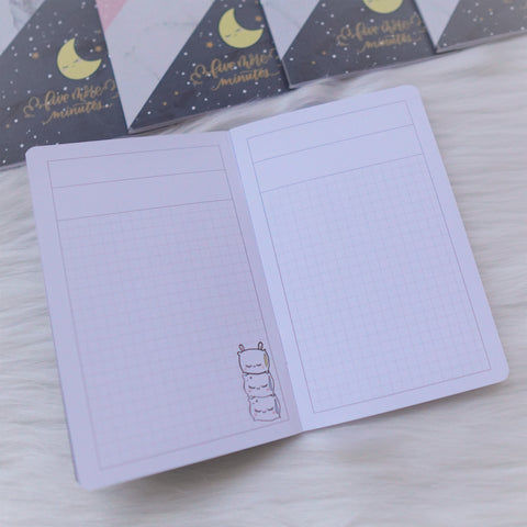 Travel Notebook (All Sizes) - Me Time // Grid with header for 15mm spacing (Annie Plans Collab)