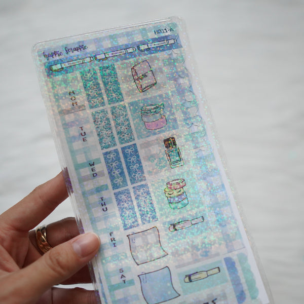Jelly Sleeve / Pocket : Hobonichi Weeks (Scallop Border)