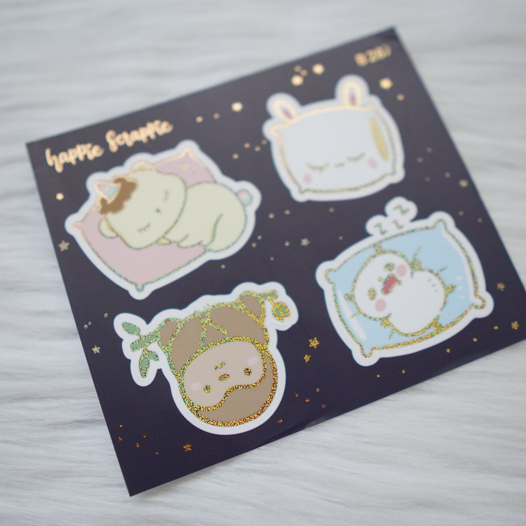 Foiled Stickers : Me Time // Big Elements (Collab with Happy Daya / OnceMoreWithLove) - B287