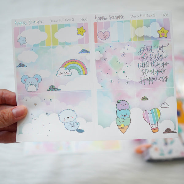 Sticker Kit - You're My Happy Rainbow (3 Deco Full Boxes) - Foiled Stickers (F604 / F605 / F606)