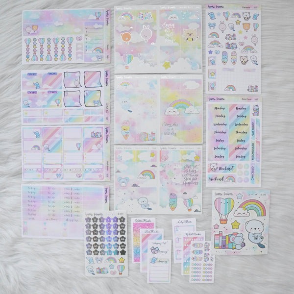Sticker Kit - You're My Happy Rainbow (Set of 9 Sheets) - Foiled Stickers