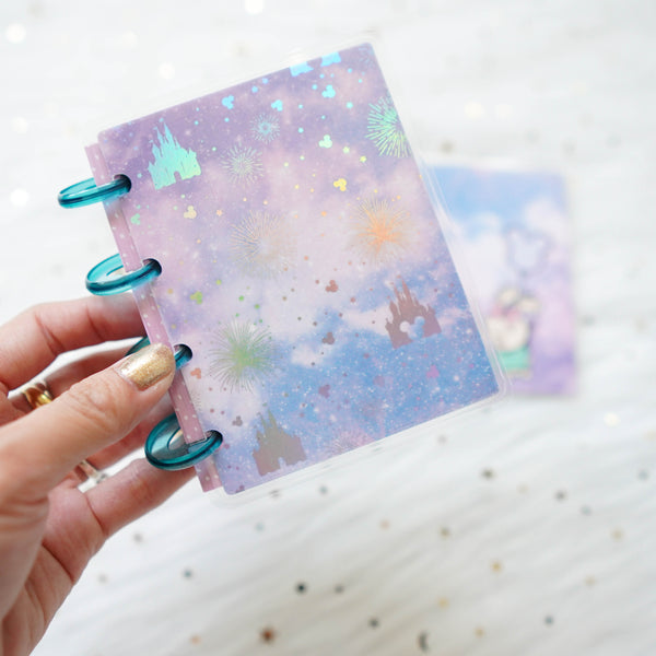 Planner Cover : Castle & Fireworks (Holo Silver Foiled) // Sparkly Paper Co Collab