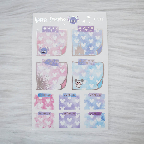 Planner Stickers : Magic // Foiled Stickie Notes (B311)