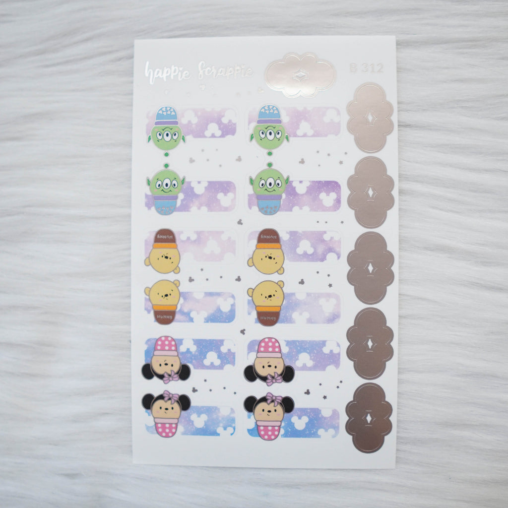 Planner Stickers : Magic // Foiled Tabs (B312)