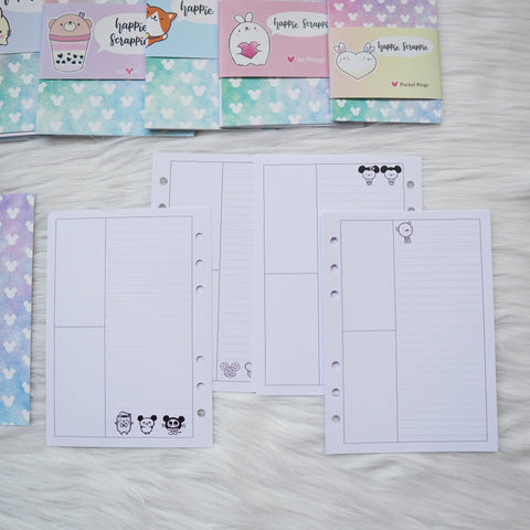 Disc / Rings Planner Inserts - Magic // Week-On-4-Page (Annie Plans Collab)