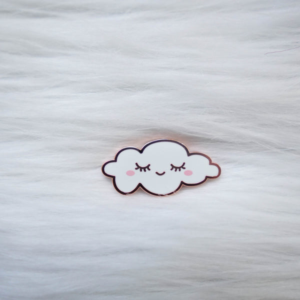 Pins : Sleepy Cloud // Rose Gold //  Magnetic Backing
