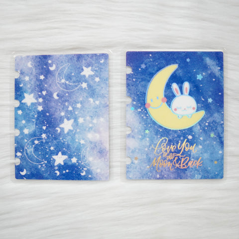 Planner Cover : Moon Bunny (Holo Silver Foiled)