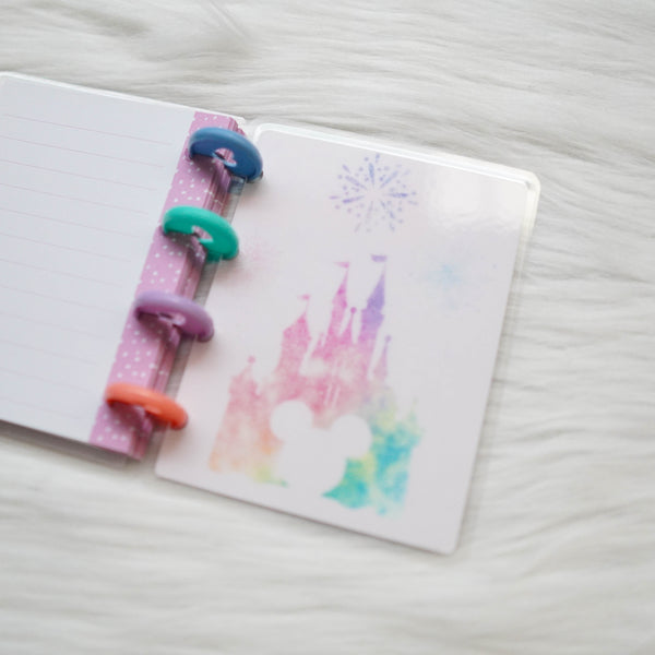 Planner Cover : Rainbow Magical Mouse (Holo Silver Foiled)