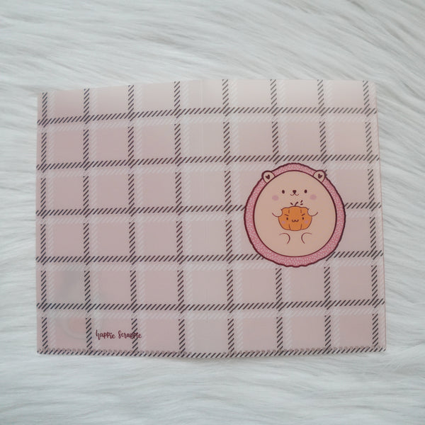 Regular Sticker Folder : Warm & Fuzzy // Hedgehog Sticker Storage Folder (Rose Gold Foiled)