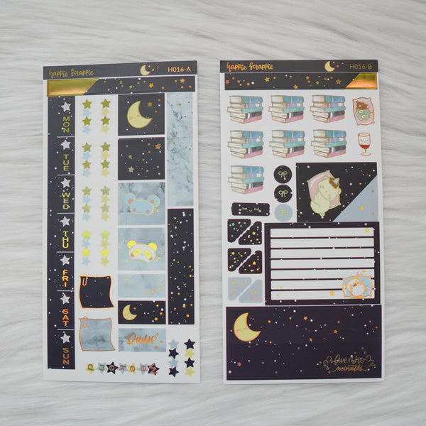 Hobonichi Weeks Sticker Kit - Sleepy // H016 - Foiled Stickers