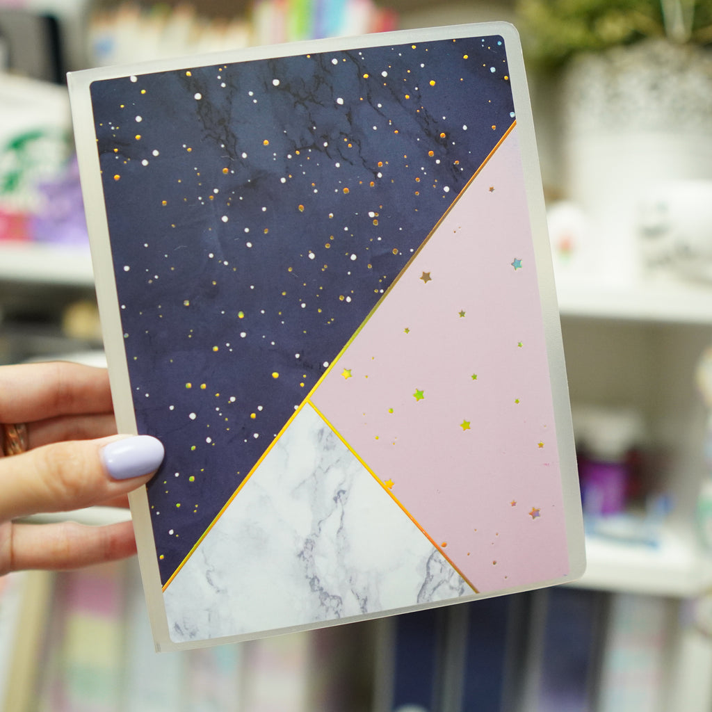 Sticker Album : Jumbo Sized Sticker Albums // J019 - Navy Blue / Marble