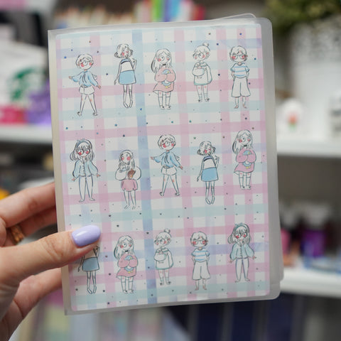 Sticker Album : Jumbo Sized Sticker Albums // J021 - Girls (Qiara Teor Collab)