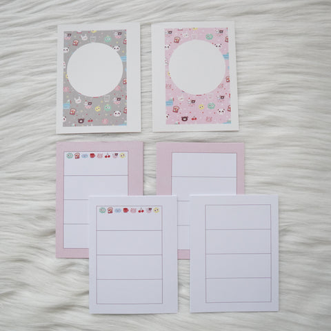 Micro HP Inserts - Pink Happy Daya Weeks Horizontal Layout // Collabs with Annie Plans Printables & HappyDaya