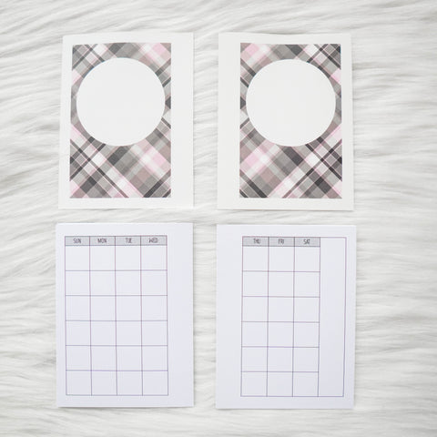 Micro HP Inserts - Undated Monthly Calendar (SUNDAY Start) // Collabs with Annie Plans Printables