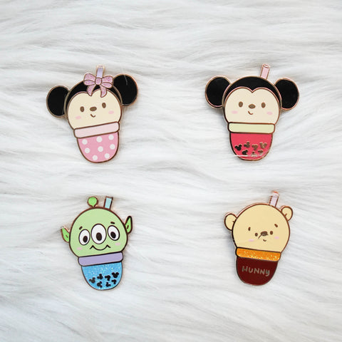 Pins : Magic Boba //  Magnetic Backing
