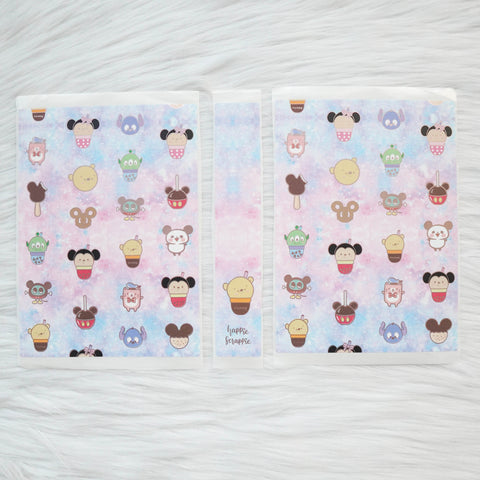 Sticker Album : Jumbo Sized Sticker Albums // J025 - Magical Snacks (Collab with Sparkly Paper Co & Happy Daya)