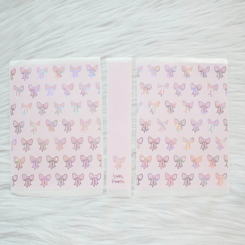 Sticker Album : Jumbo Sized Sticker Albums // J023 - RCD Bows (Rose Colored Daze Collab)