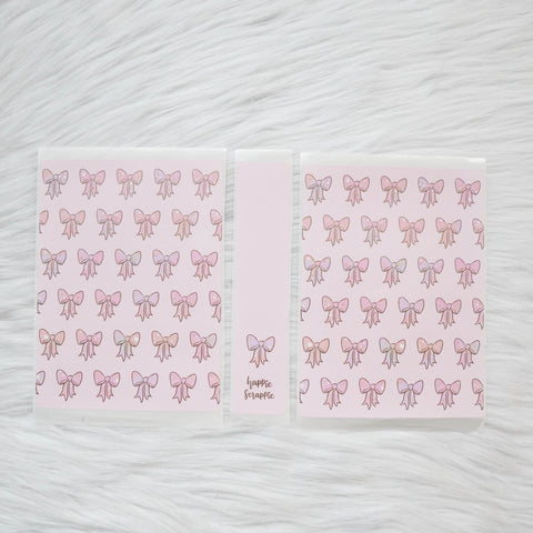 Sticker Album : Regular Sticker Albums // A090 - RCD Bows (Rose Colored Daze Collab)