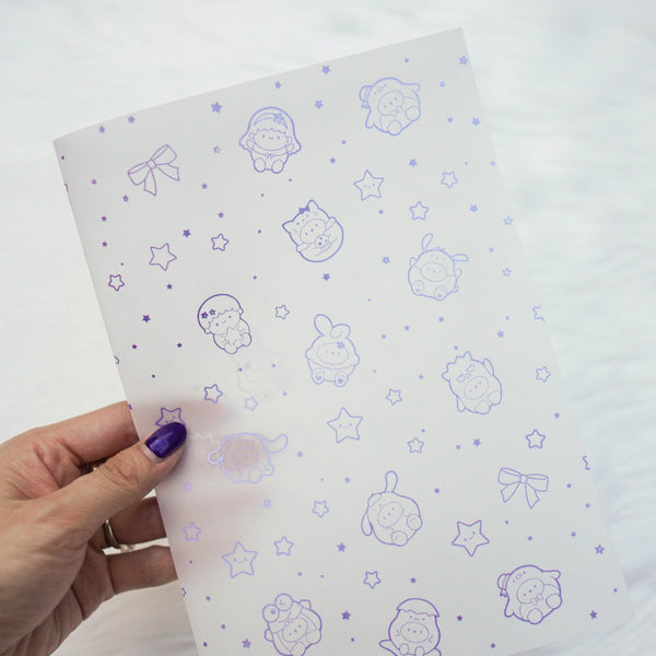 Vellum : Holo Silver & Lilac Foiled // Cutie Patootie (Set of 2)