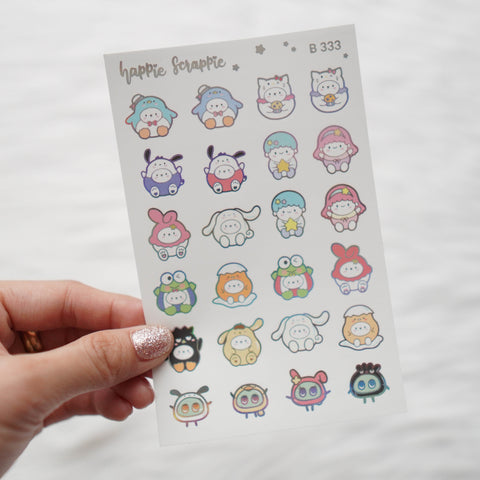 Planner Stickers : Cutie Patootie // Foiled Elements 1 (B333)