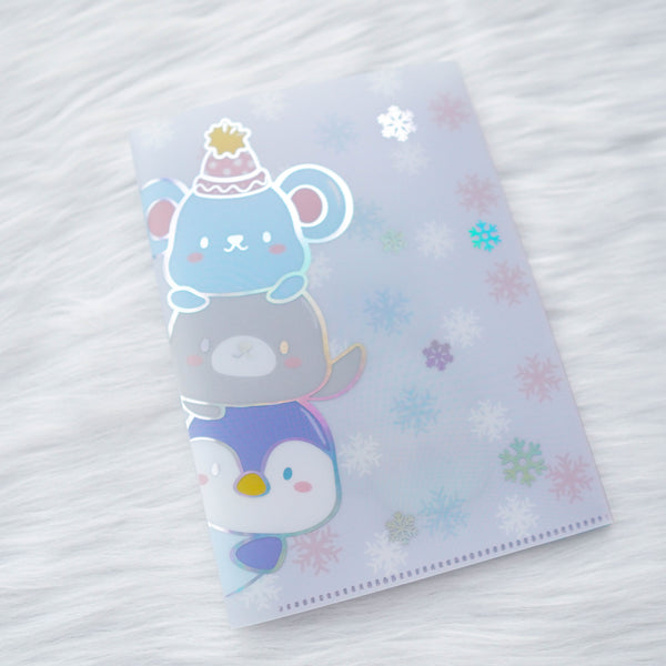 Jumbo Sticker Folder : Cozy Winter // Winter Animals (Holo Silver Foiled)