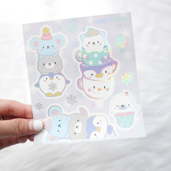 Sticker Kit - Cozy Winter (Set of 9 Sheets) - Foiled Stickers