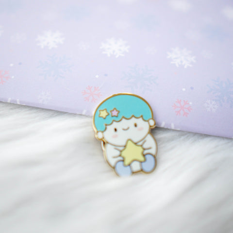 Pins : Cutie Patootie // Blue Hair Boy //  Magnetic Backing