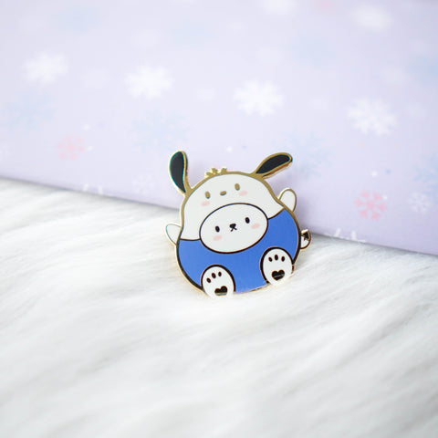 Pins : Cutie Patootie // Blue Shirt Dog //  Magnetic Backing