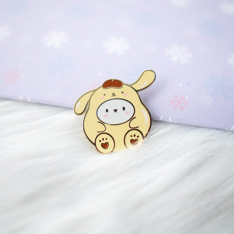 Pins : Cutie Patootie // Yellow Dog PomPom //  Magnetic Backing