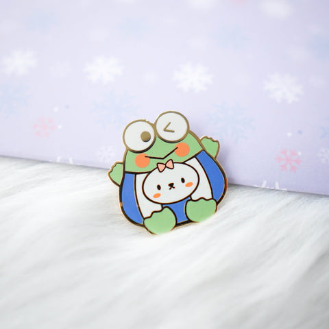 Pins : Cutie Patootie // Green Frog //  Magnetic Backing