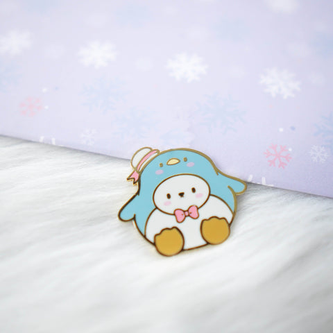 Pins : Cutie Patootie // Blue Penguin //  Magnetic Backing