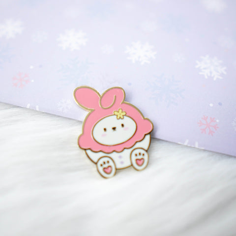 Pins : Cutie Patootie // Pink Melody Bunny //  Magnetic Backing