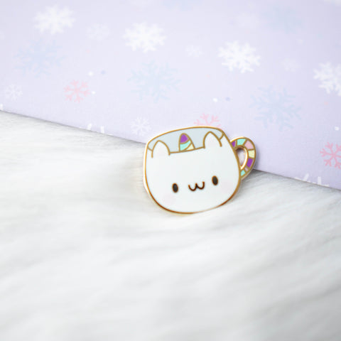 Pins : Catiecorn Cup //  Magnetic Backing