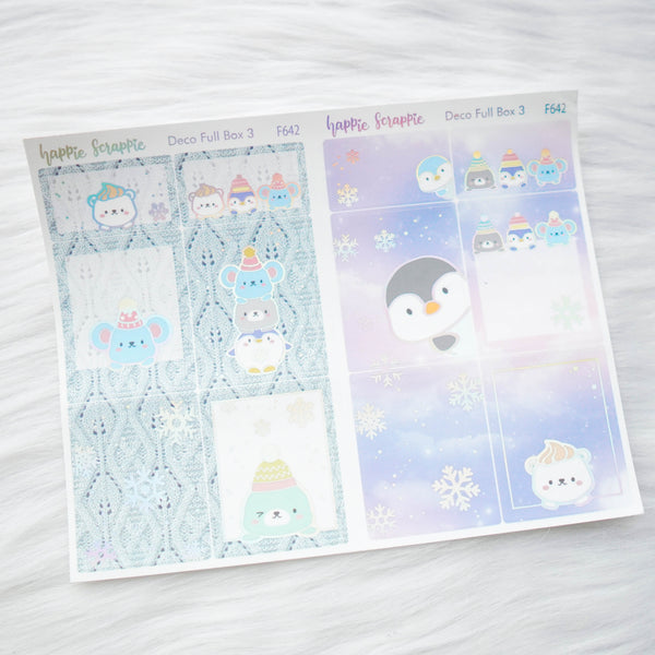 Sticker Kit - Cozy Winter (3 Deco Full Boxes) - Foiled Stickers (F640 / F641 / F642)
