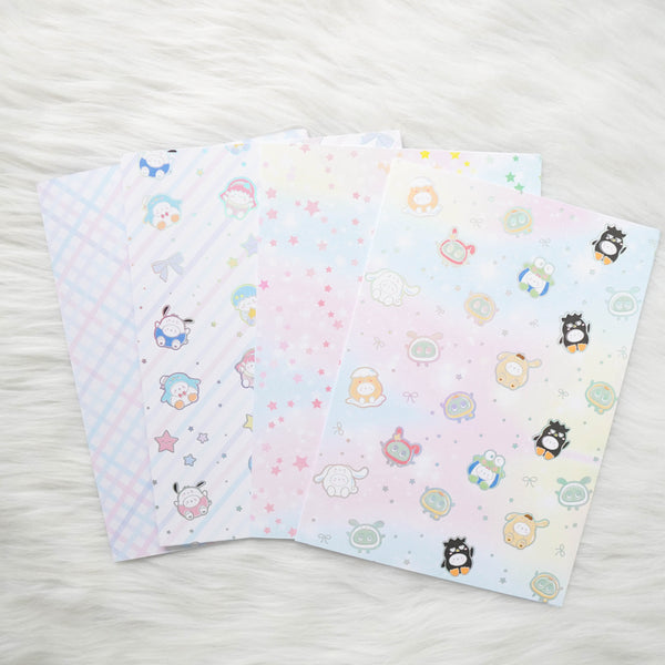 Pattern Papers : Holo Silver Foiled // Cutie Patootie (Set of 4)