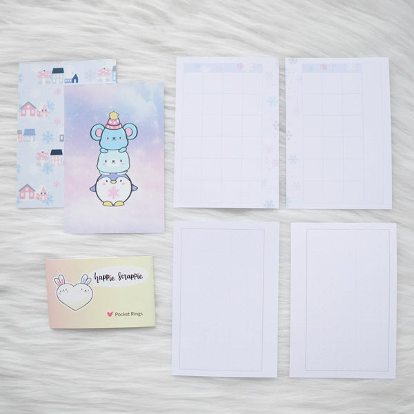 Disc / Rings Planner Inserts - Cozy Winter // Weekly (With Monthly View)